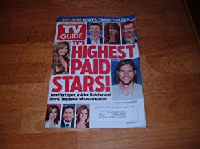 TV Guide magazine, August 15-28, 2011-TV's Highest Paid Stars! Jennifer Lopez, Ashton Kutcher and more. We reveal who earns what.