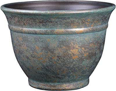 "Classic Home and Garden 10512D-377R 12"" Alena Planter, Weathered Copper"