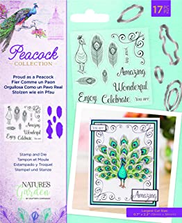 Nature`s Garden NG-Pea-STD-Pap Collection-Stamp & Die-Proud as a Peacock, Silver