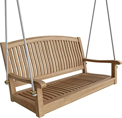 "Anderson Teak SW-048R-No Cushion SW-048R Del-Amo 48"" Round Swing Bench, Natural"