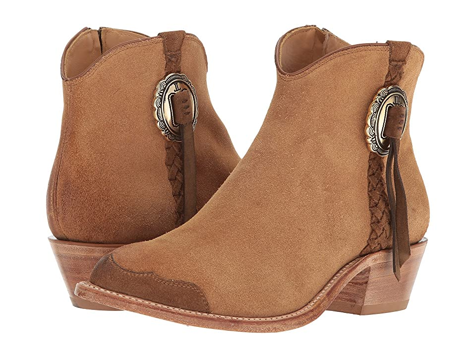 Lucchese Isabel (Butterscotch Suede) Cowboy Boots