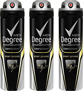 Degree Men Antiperspirant Deodorant Dry Spray, Sport Defense, 3 Count