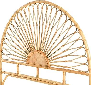 Creative Co-Op Rattan Sunrise Design, King-Size Headboard