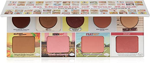 theBalm of Your Hand Greatest Hits Vol. 2 Face Palette, 4 Blendable Eyeshadows, 3 Blush Colors, Matte Bronzer, Champagne-Hued Highlighter