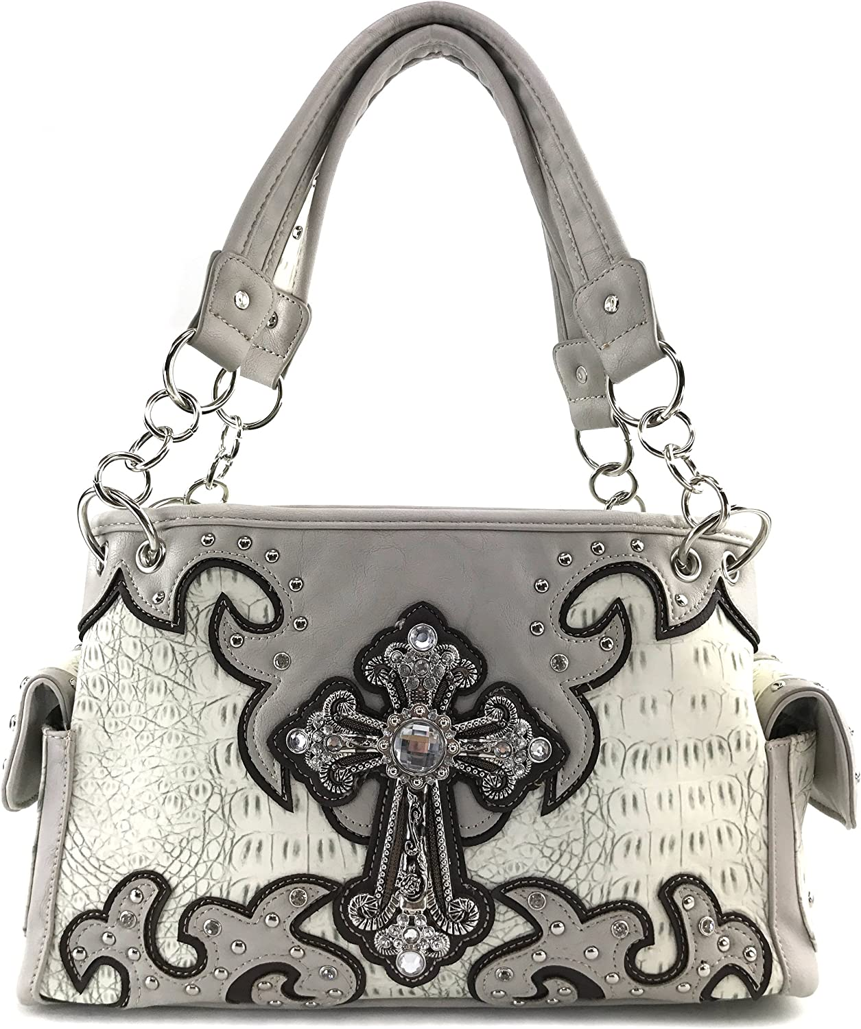 Justin West Concealed Carry Max 46% OFF Western Croc Color Cross Indianapolis Mall Duo Shoulde