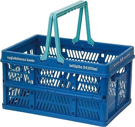 折叠 堆叠 容器盒 天蓝色 Large 400799101