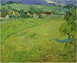 Music Poster Vincent Van Gogh - View of Les Vessenots Near Auvers 1890 Print 60x60cm