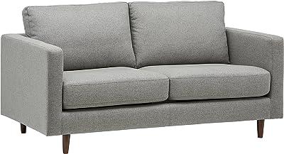 Marque Amazon - Rivet as-5075-sb-raisin Revolve - Canapé-lit Moderne, Largeur 178 cm, Gris Tissé