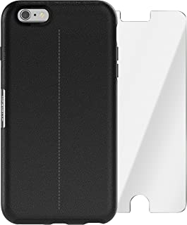 OtterBox Strada Series Limited Edition + Alpha Glass Case for iPhone 6 Plus/6s Plus (ONLY) - Retail Packaging - Onyx (Black/Black Leather)