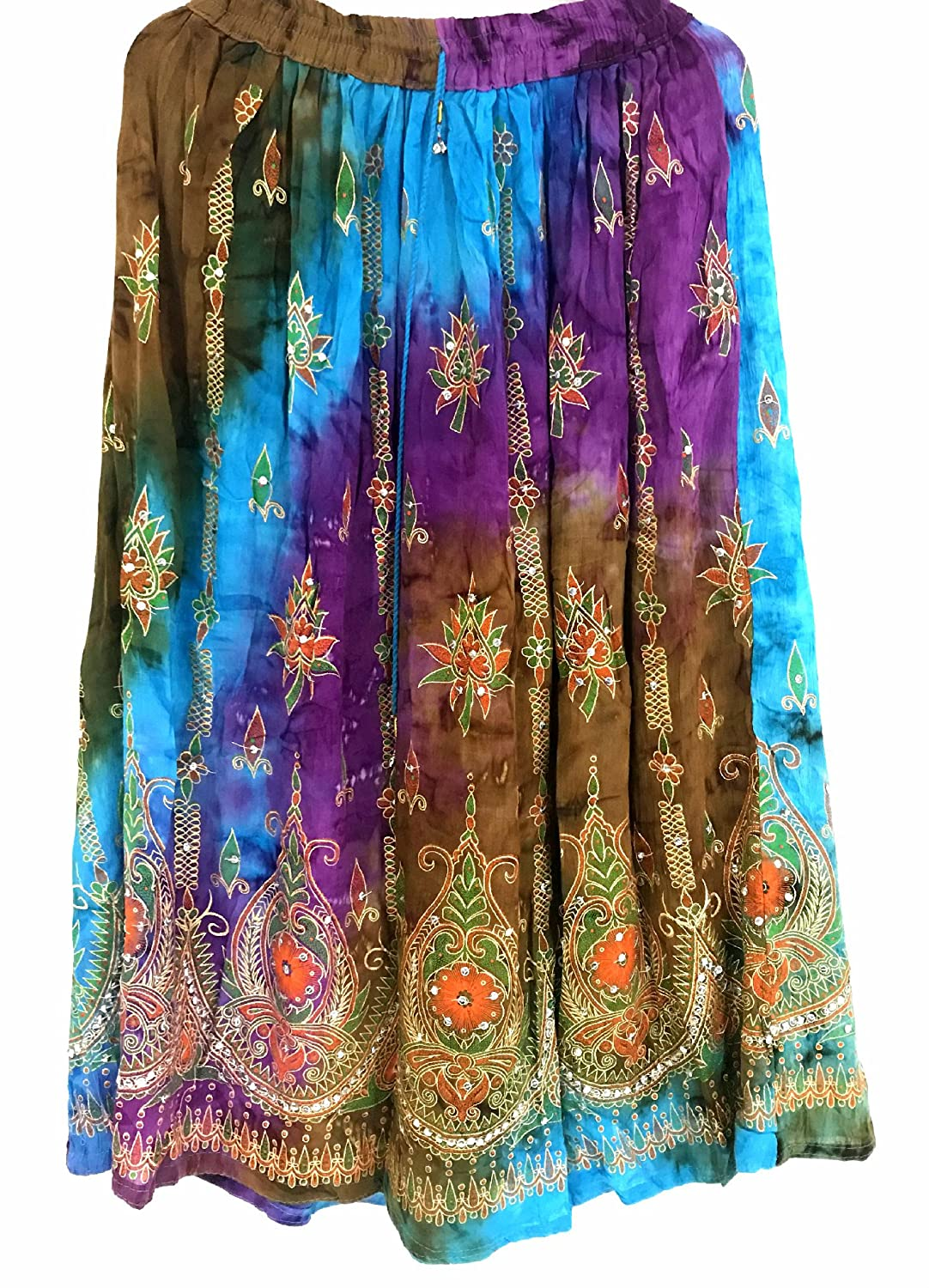 Dancers World Ltd UK Seller Coloured Womans Boho Hippie Gypsy Women Indian Sequin Summer Summer Dress Maxi Belly Dance Skirt