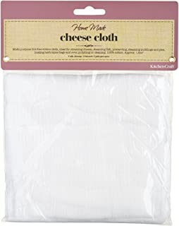 KitchenCraft Home Made Cheesecloth, Katoen, Wit, 1,6 m
