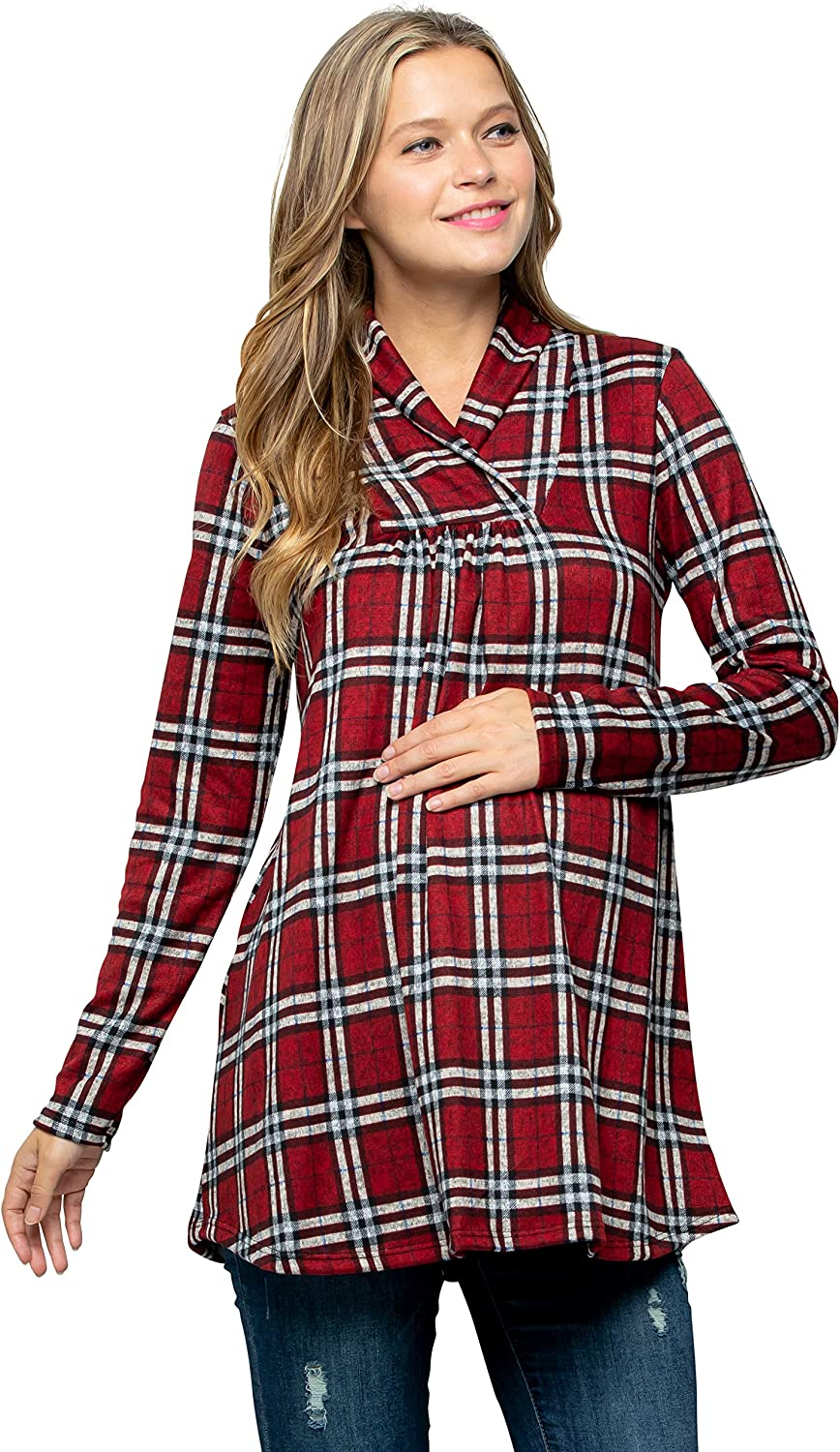 My Bump Maternity New products world's highest quality Milwaukee Mall popular Knit Sweater - Shawl Collar Neck High Long Sle