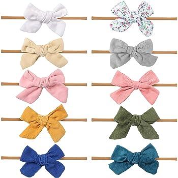 The VERY HUNGRY CATERPILLAR Baby Stretch Elastic Headband Hair Bow Clip Ribbon