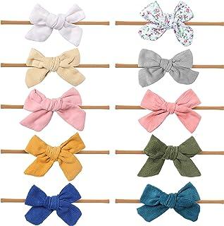 Baby Girl Headbands and bows - Nylon Headband Fits newborn toddler infant girls