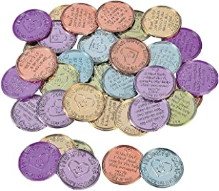 Fun Express - Plastic Kindness Coins - Toys - Value Toys - Play Money - 144 Pieces