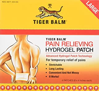 Tiger Balm Pain Relieving Patch Large 4 Each