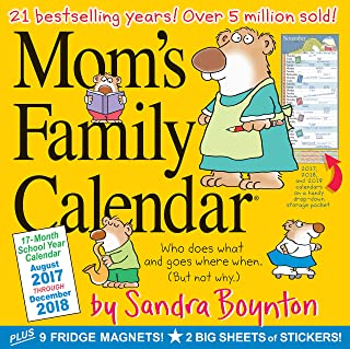 Mom's Family Wall Calendar 2018