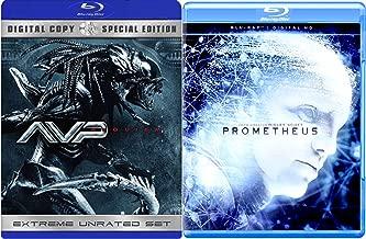 Prometheus & AVP Requiem Sci-Fi Aliens Blu Ray DVD Movie Set Aliens VS Predetors