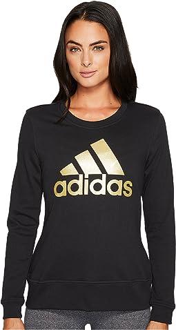 adidas - Badge of Sport Iridescent Fleece Crew
