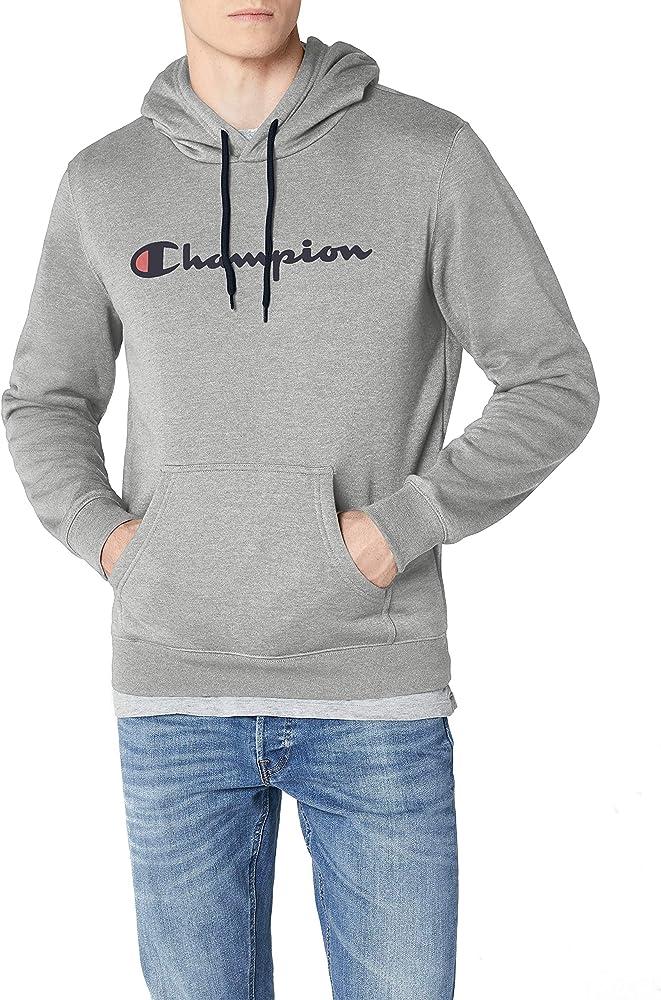 Champion classic logo felpa con cappuccio da uomo 78% cotone 210737