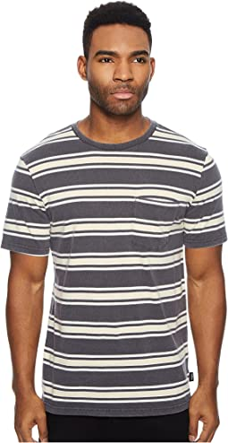 Brixton Hilt Washed Short Sleeve Pocket Knit