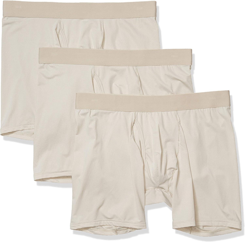 Goodthreads Men's 3-Pack Lightweight Performance Knit Boxer Brief