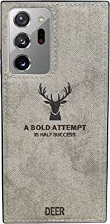 Samsung Galaxy Note 20 Ultra Luxury Soft Texture Patterned TPU Cloth Protective Case, Dirt-Resistant, Anti-Shock, Anti-Fin...