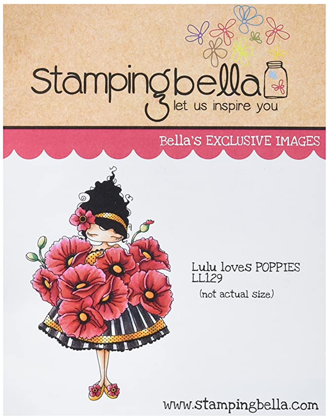 Stamping Bella LL129 Lulu Loves Poppies Cling Rubber Stamp, 6.5