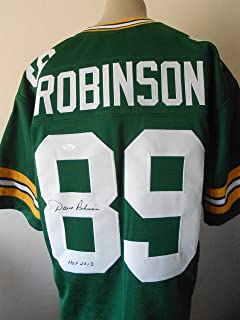 DAVE ROBINSON SIGNED HOF 2013 WHITE JERSEY JSA WITNESSED COA GREEN BAY PACKERS