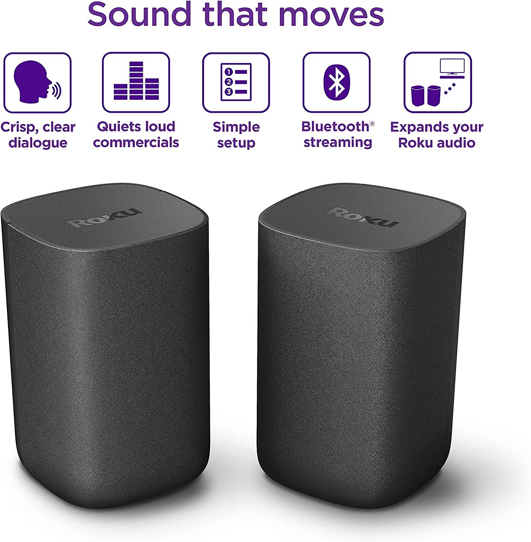 Roku Wireless Speakers (for Roku Smart Audio or Roku TV)