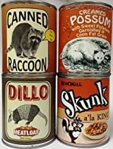 Gag Canned Meat Combo Pack II: Creamed Possum, Raccoon, Dillo and Skunk
