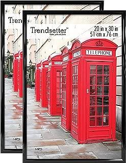 MCS Trendsetter Poster Frame, 20 by 30-Inch, Black, 2-Pack
