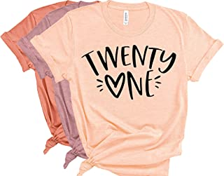 Best Deloach Couture Womens Twenty One Shirt, 21st Birthday Shirt with heart, legally 21 shirt, 21st birthday gift, birthday trip shirt, Vegas 21st birthday shirt Review