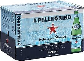 مياه معدنية طبيعية فوارة سان بيليغرينو - 500 مل (حزمة من 24 زجاجة)