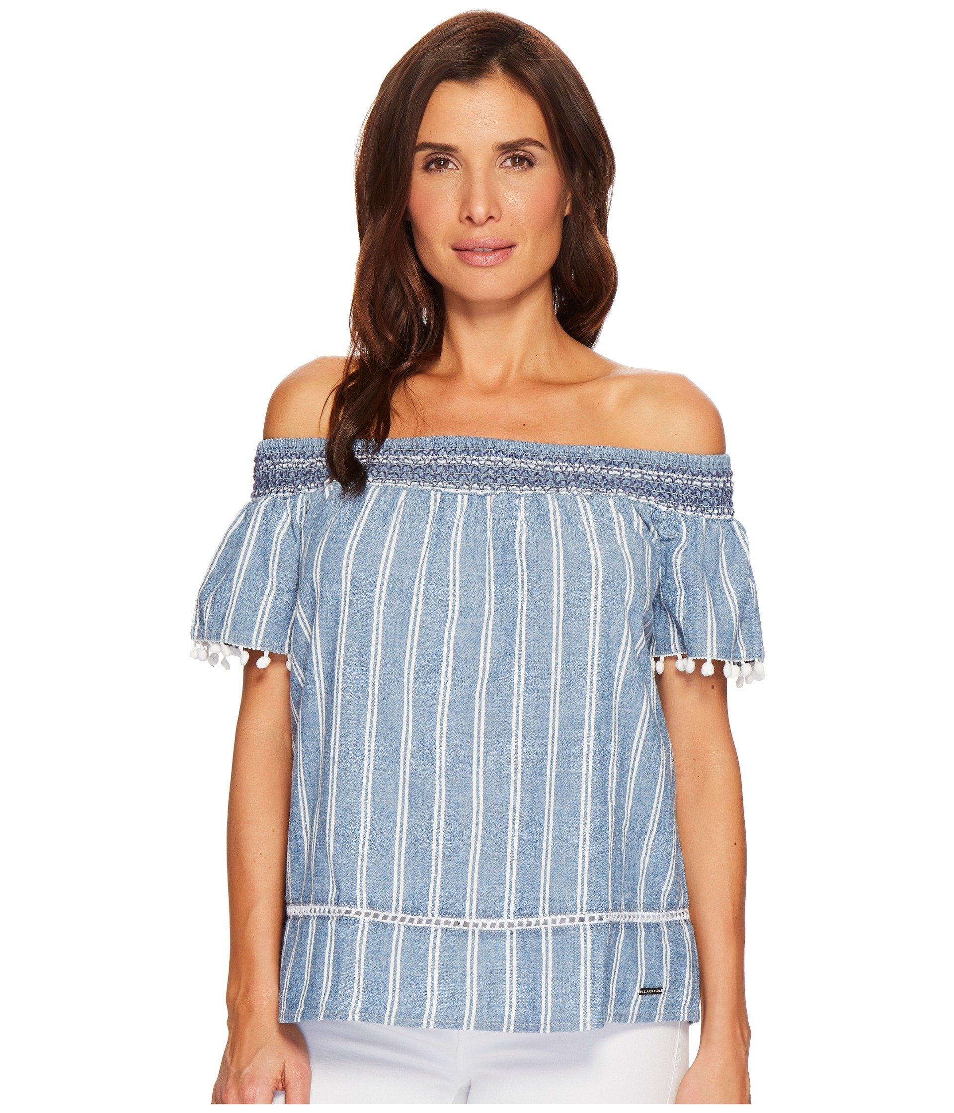 Blusa para Mujer U.S. POLO ASSN. Denim Off Shoulder Shirt  + U.S. POLO ASSN. en VeoyCompro.net