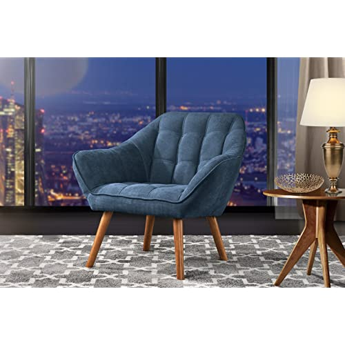 Blue Wingback Dining Chair Amazoncom
