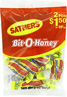 Farley's & Sathers Candy, Bit-O-Honey, 2 Ounce, Pack of 12