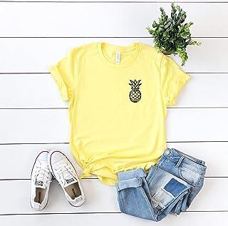 pineapple shirt summer t-shirts hello summer vacation outfits summer outfits cute women's tee
