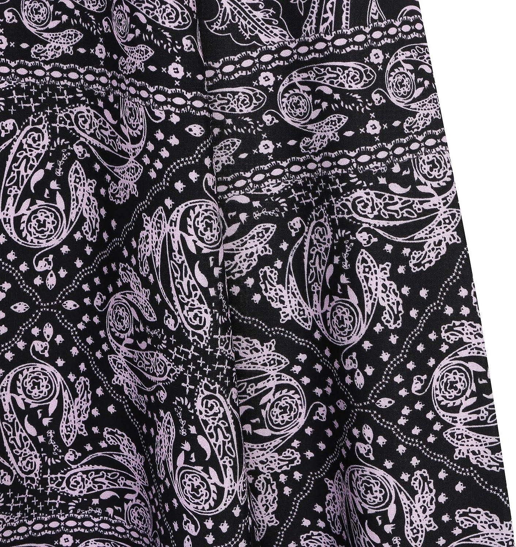 Men's Floral Dress Shirt Long Sleeve Casual Blouse Paisley Fashion Luxury Beach Loose Top