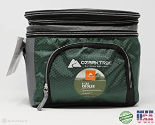 Ozark Trail 6 Can Cooler with Expandable Top (Green)
