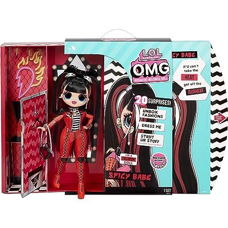 LOL Surprise OMG Serie 4 bambola alla moda SPICY BABE con 20 sorprese, tra cui vestiti, completini glamour e accessori alla moda. LOL Surprise OMG Serie 4. Bambola alla moda da collezionare, Età: 4+