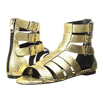 Just Cavalli Python Leather Sandal (Gold) Women