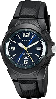 casio analog watch ten year battery life for boys mw-600f-2a