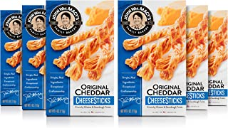 John Wm. Macy's CheeseSticks, Original Cheddar, 4 Ounce Box, Pack of 6