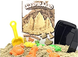 MarvelSand 2.2 lbs- Magic Play Sand with 6 Animal Molds, Fun and Educational for all Ages.