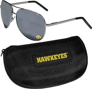 Siskiyou NCAA Unisex Aviator Sunglasses and Zippered Carrying Case