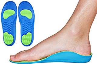 Neon Fix Premium Grade Orthotic Insole by KidSole For Flat Feet and Arch Support (18 CM) Toddler 10-12