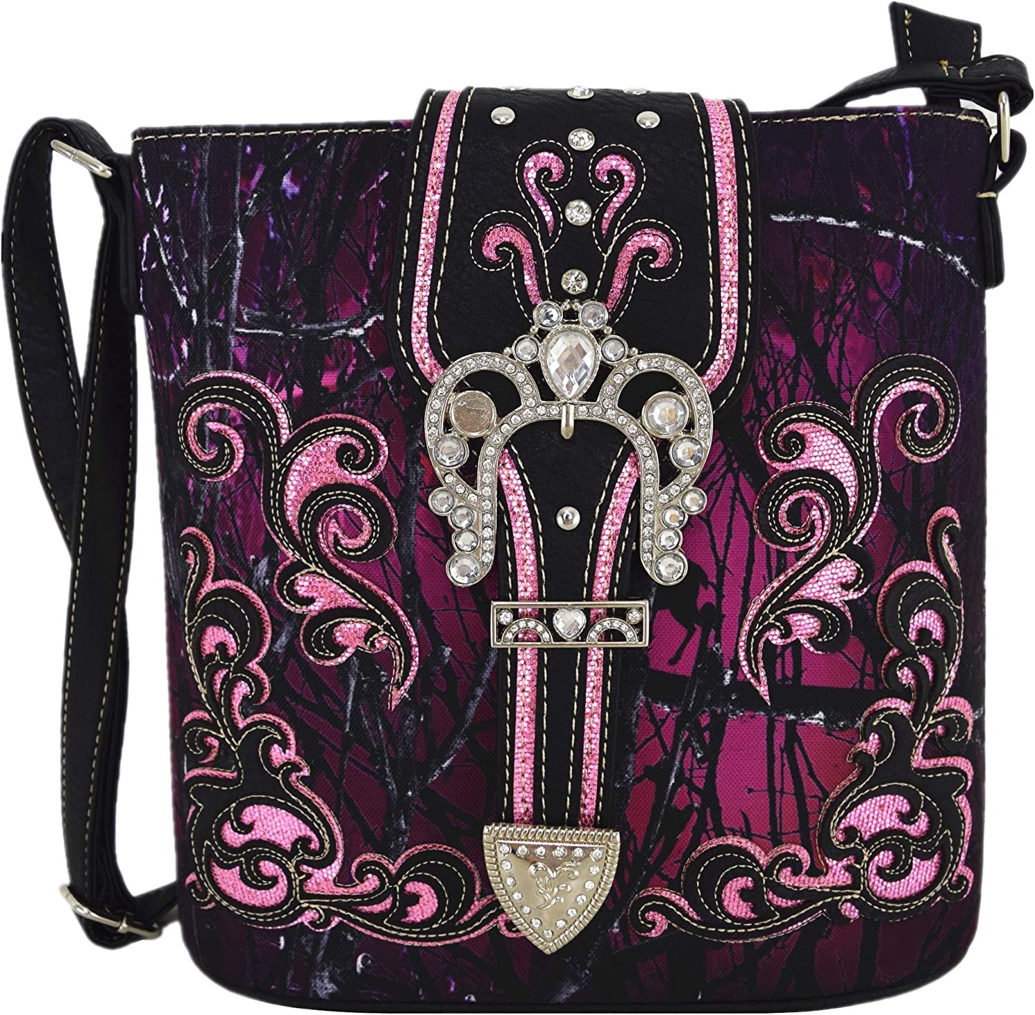 Camouflage Rhinestone Western Cross Save money Max 41% OFF Body Concealed Carr Handbags