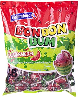 Colombina Bbb Jumbo Watermelon Flavour Bubble Gum Pops, 816 gm