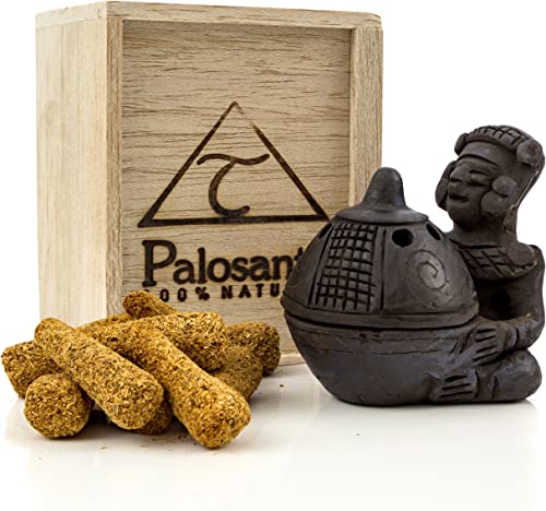 popular Premium Bundle of Palo Santo Cones with Black Ceramic 2021 Chief Burner. Use for Home Fragrance, Energy Clearing, Yoga, new arrival Meditation sale